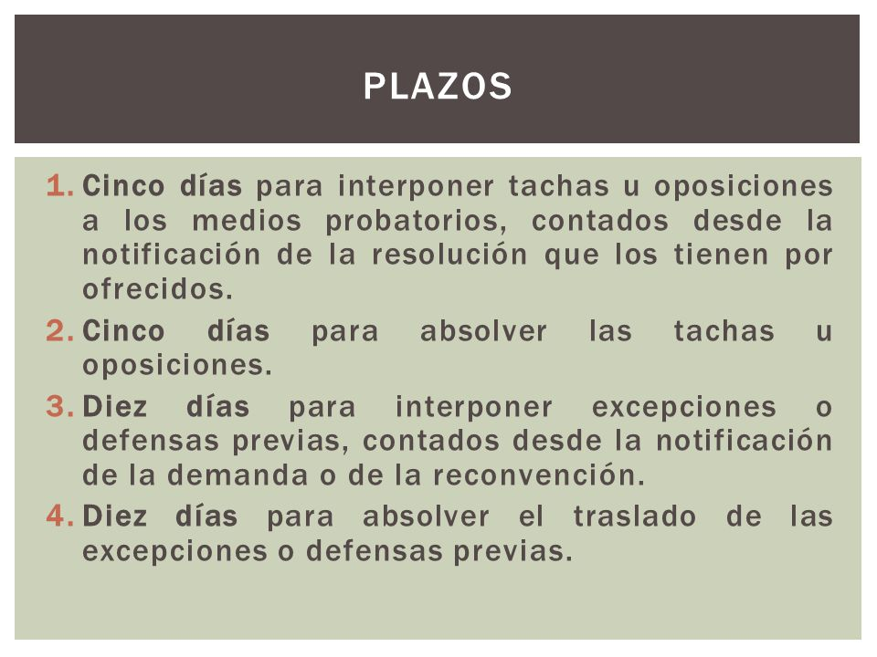 PLAZOS