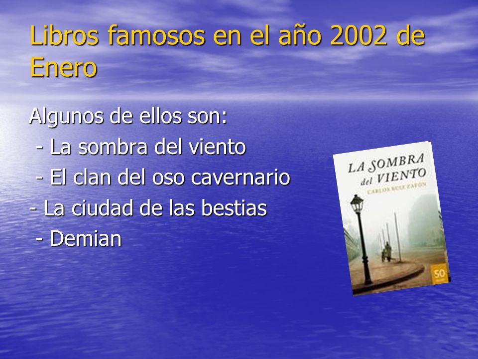 Libros famosos en el año 2002 de Enero