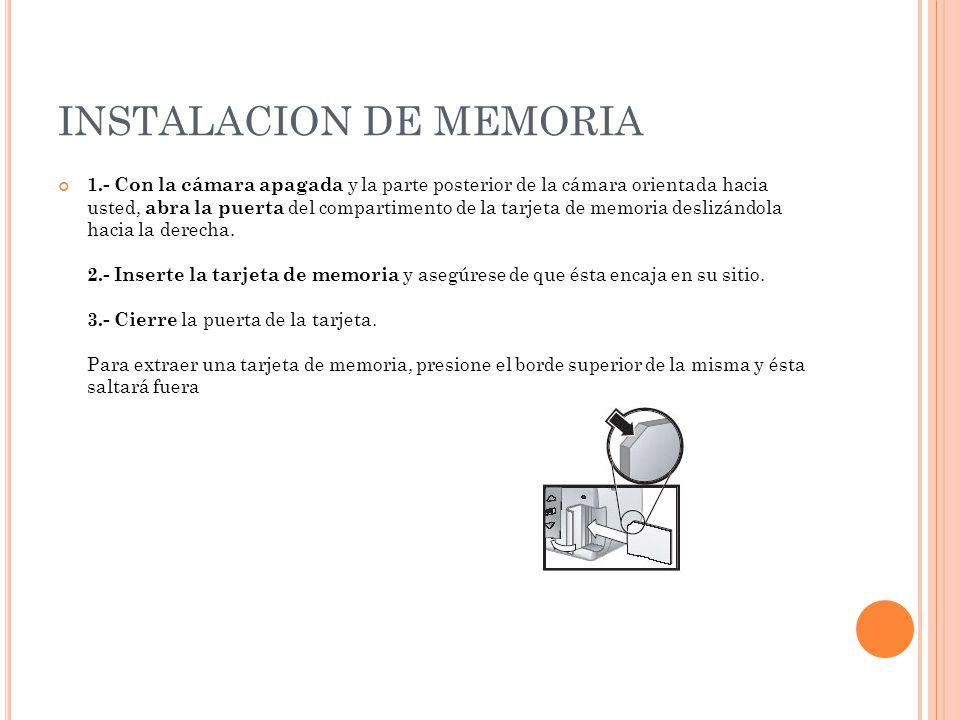 INSTALACION DE MEMORIA