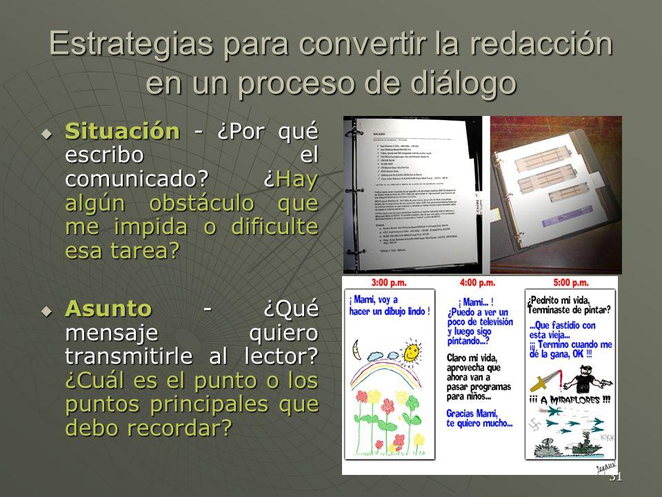 Estrategias para convertir la redacción en un proceso de diálogo