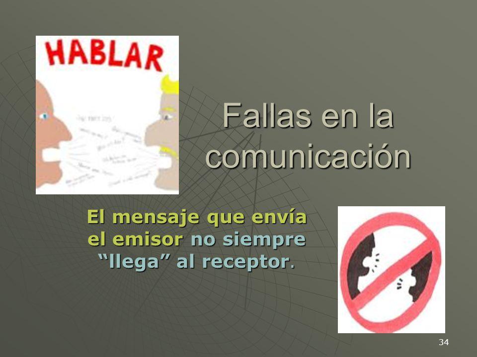 Fallas en la comunicación