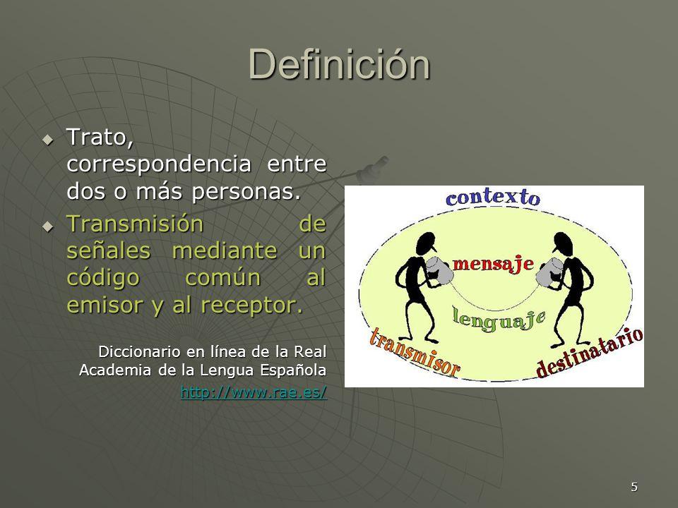 Definición Trato, correspondencia entre dos o más personas.