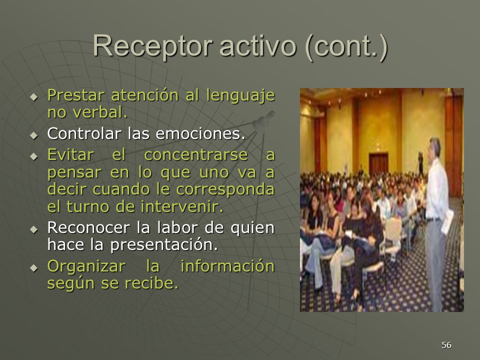 Receptor activo (cont.)