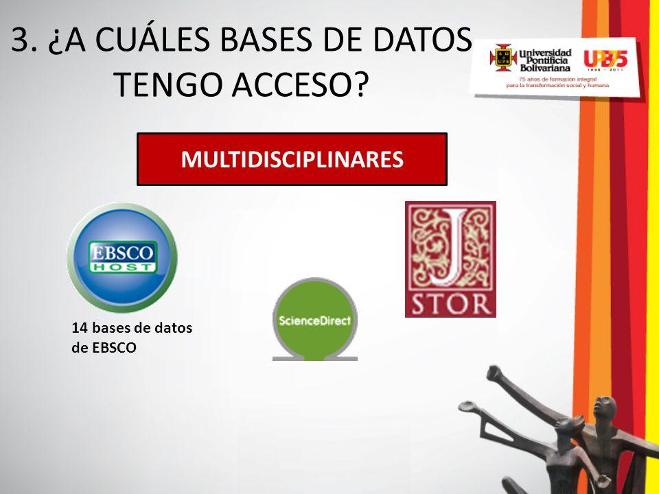 3. ¿A CUÁLES BASES DE DATOS TENGO ACCESO