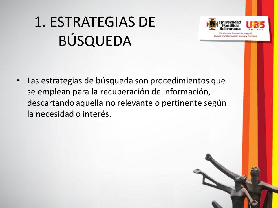 1. ESTRATEGIAS DE BÚSQUEDA