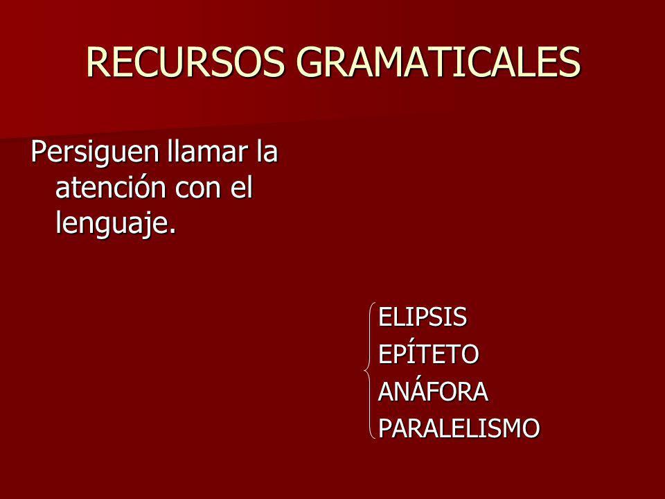 RECURSOS GRAMATICALES
