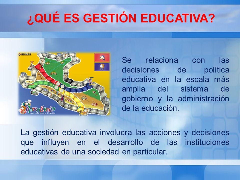 ¿Qué es Gestión Educativa