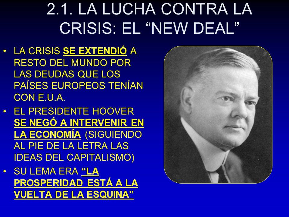 2.1. LA LUCHA CONTRA LA CRISIS: EL NEW DEAL