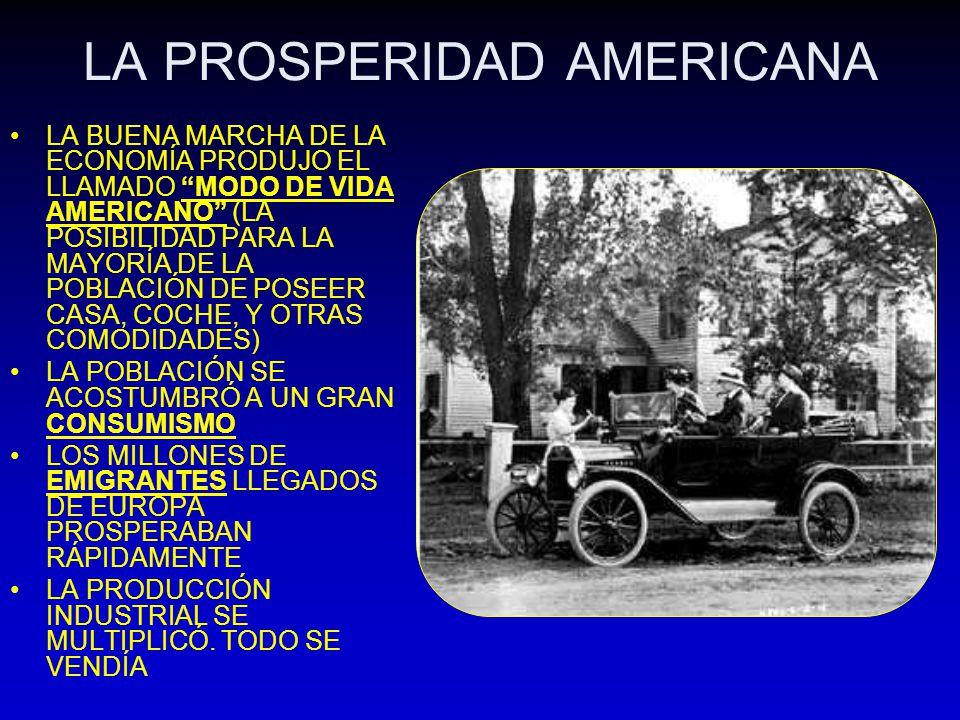 LA PROSPERIDAD AMERICANA