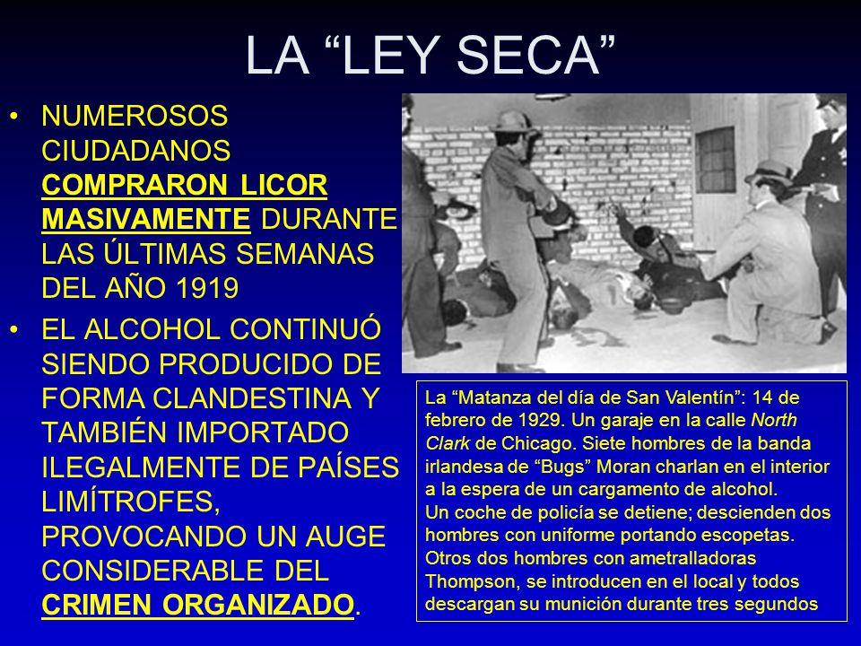 LA LEY SECA NUMEROSOS CIUDADANOS COMPRARON LICOR MASIVAMENTE DURANTE LAS ÚLTIMAS SEMANAS DEL AÑO 1919.