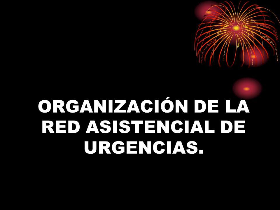 ORGANIZACIÓN DE LA RED ASISTENCIAL DE URGENCIAS.