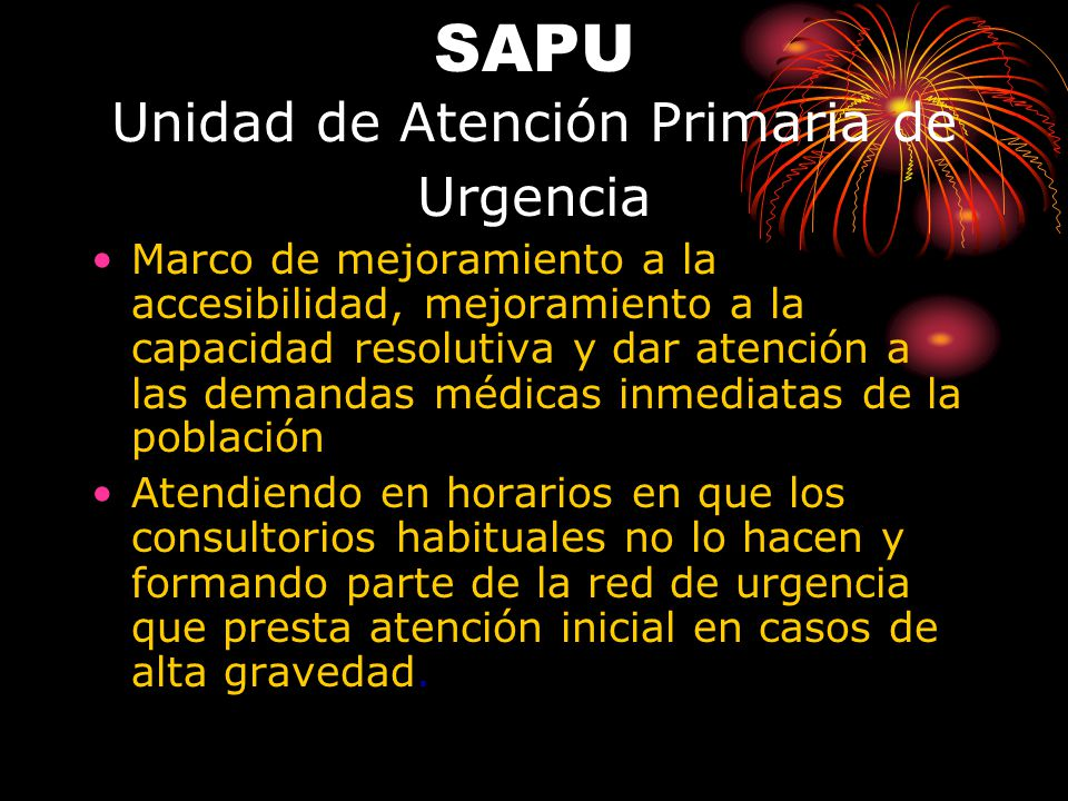 SAPU Unidad de Atención Primaria de Urgencia