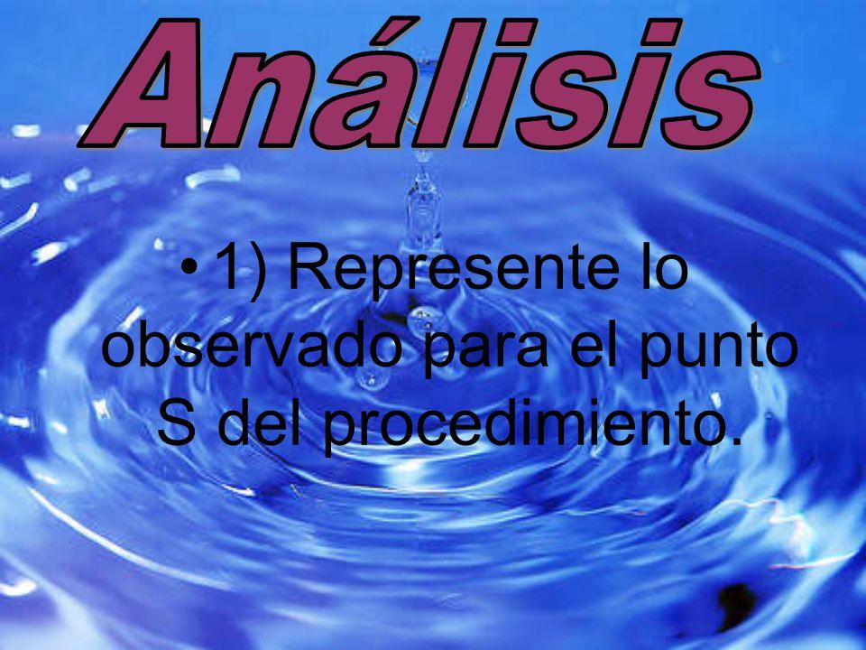 1) Represente lo observado para el punto S del procedimiento.