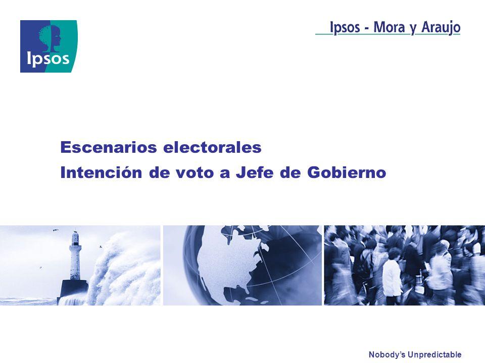 Escenarios electorales Intención de voto a Jefe de Gobierno