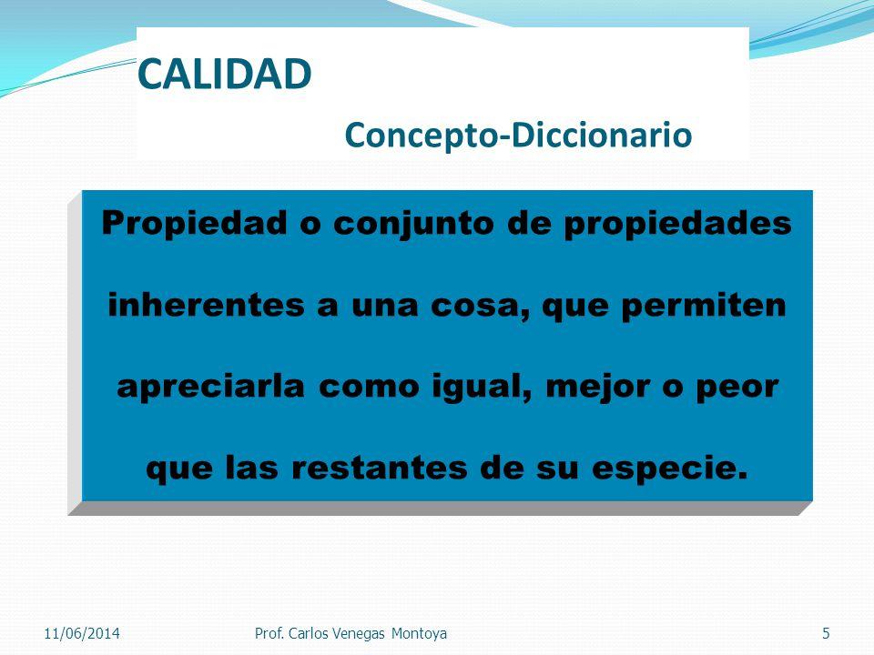 CALIDAD Concepto-Diccionario