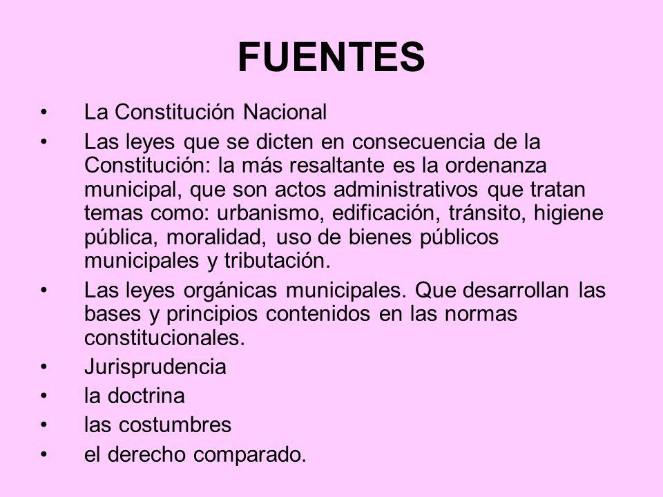 FUENTES La Constitución Nacional