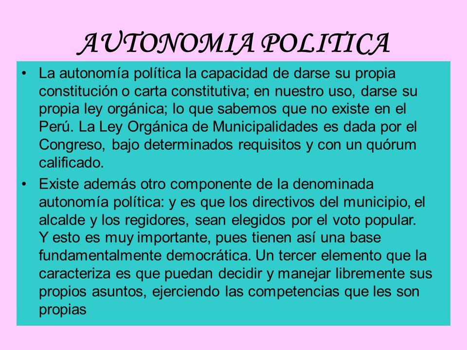 AUTONOMIA POLITICA