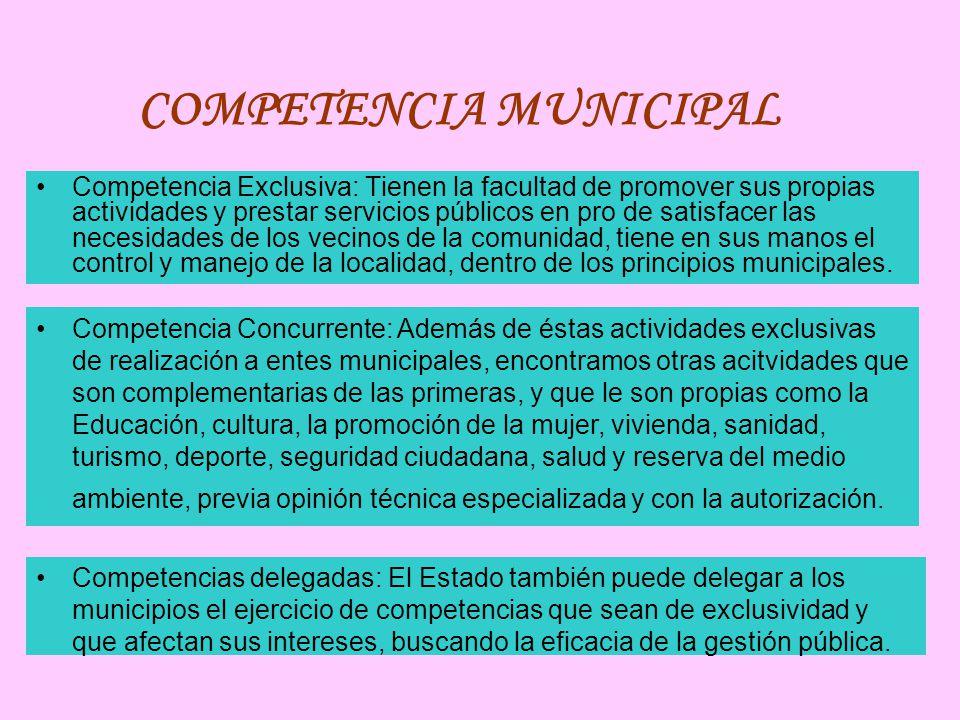 COMPETENCIA MUNICIPAL