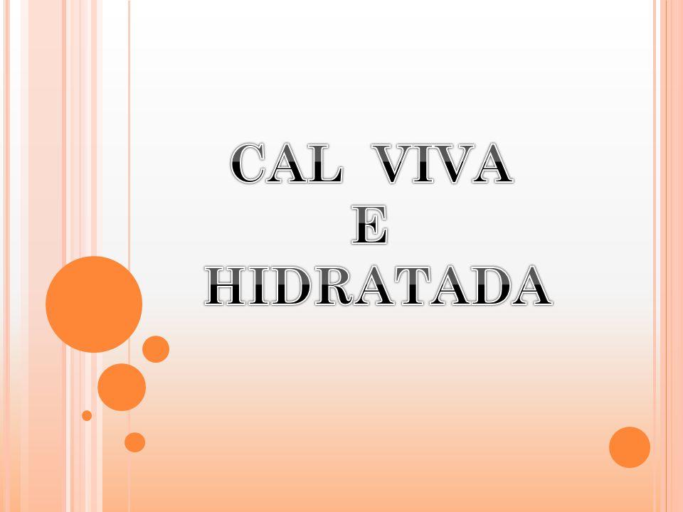 CAL VIVA E HIDRATADA