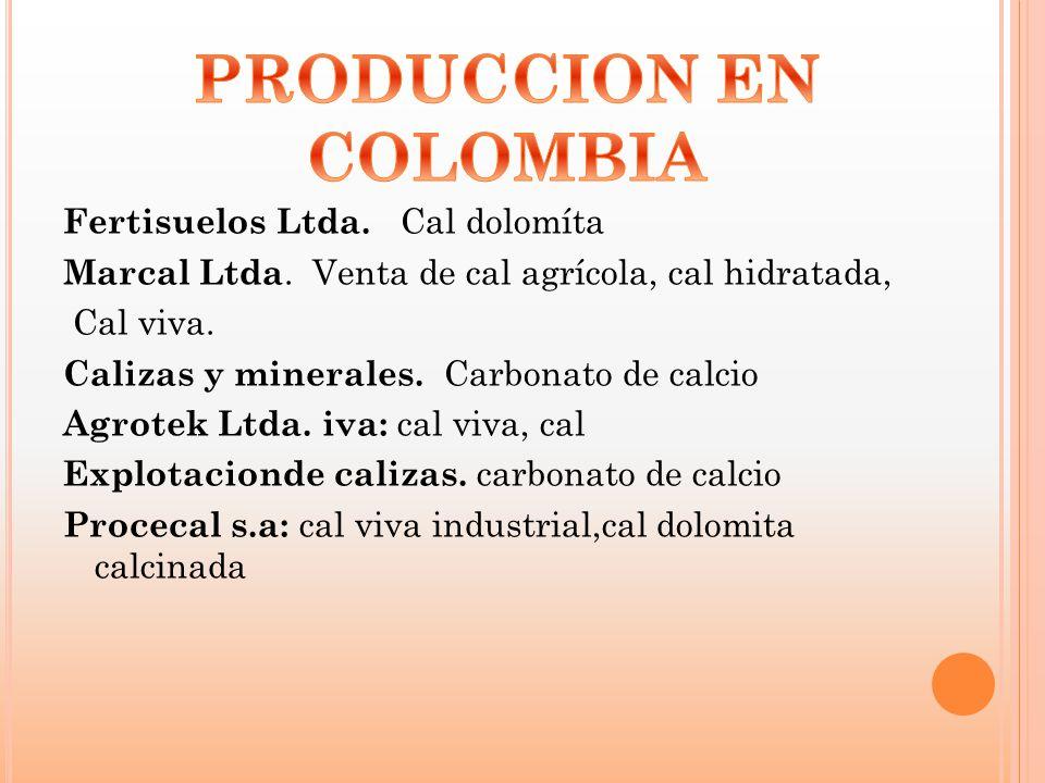 PRODUCCION EN COLOMBIA