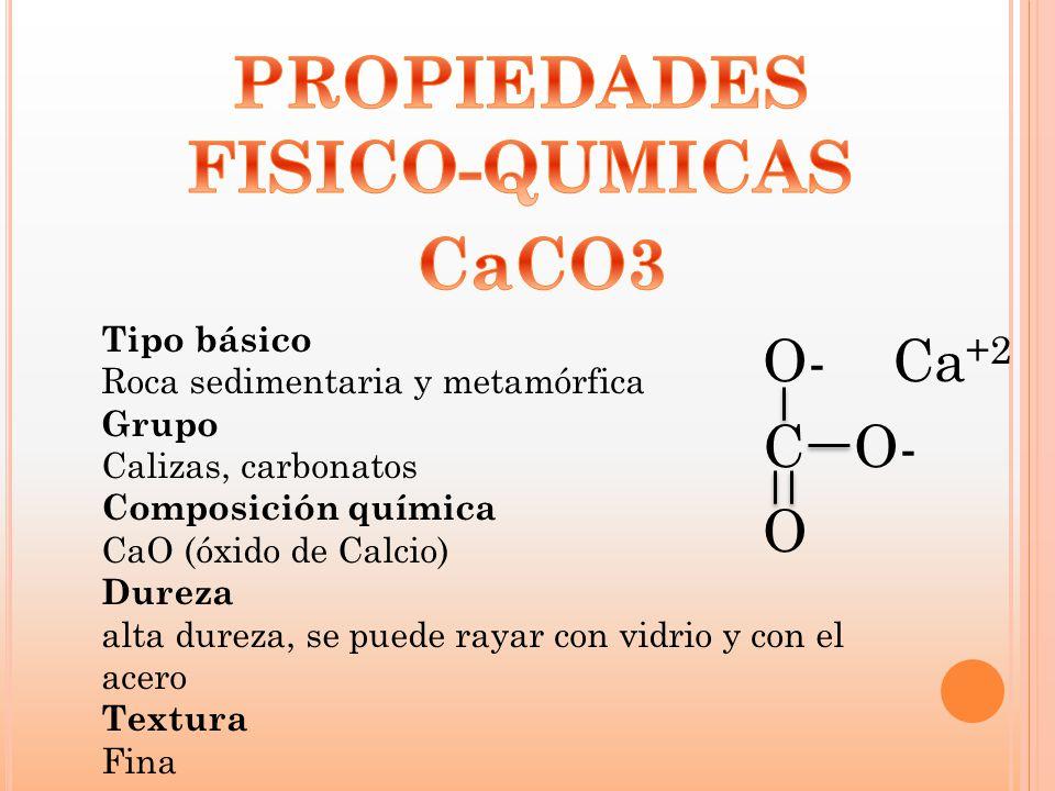 PROPIEDADES FISICO-QUMICAS CaCO3