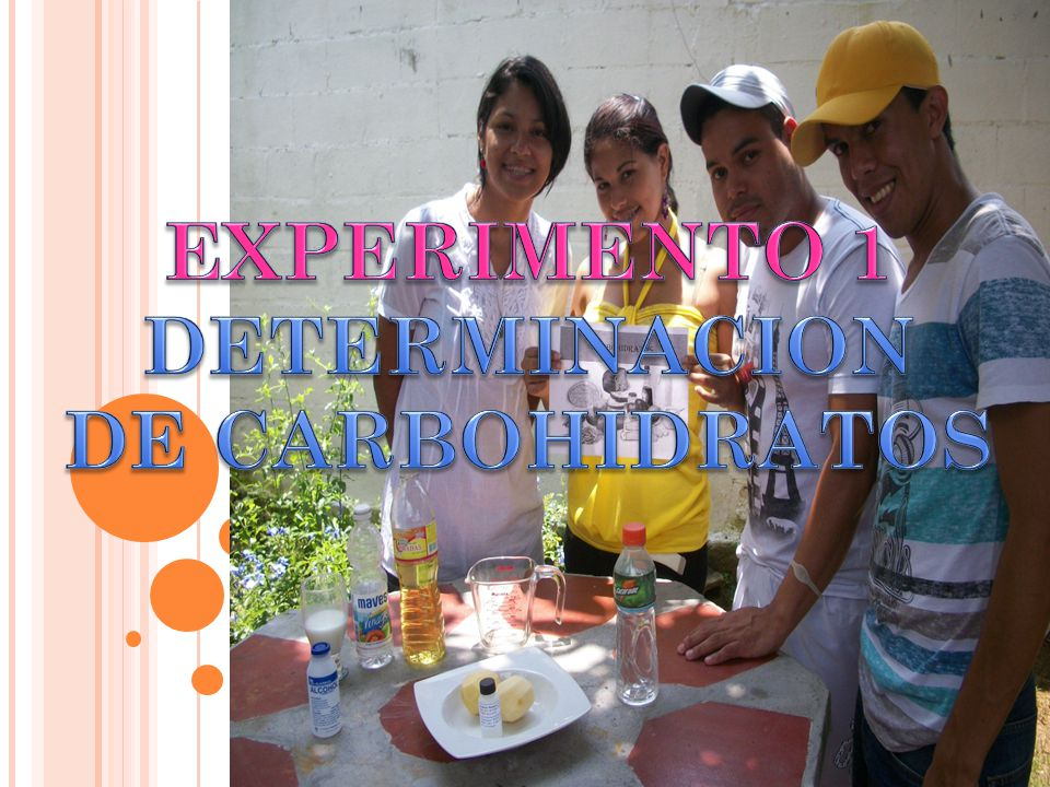 EXPERIMENTO 1 DETERMINACION DE CARBOHIDRATOS