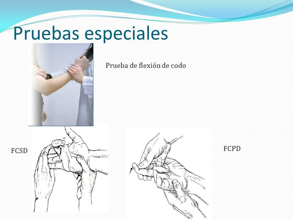 Pruebas especiales Prueba de flexión de codo FCPD FCSD
