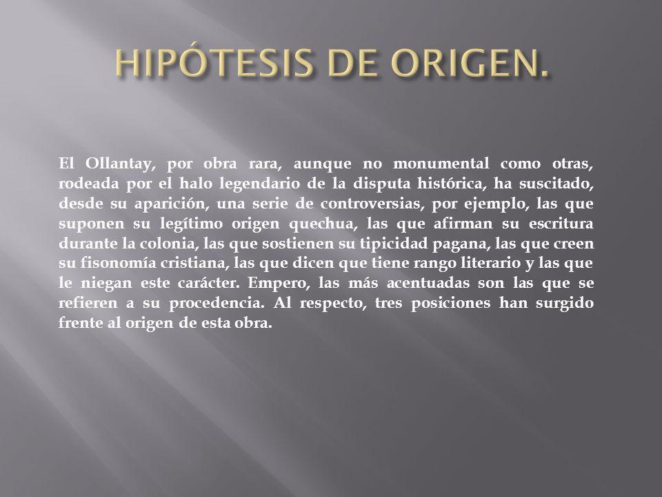 HIPÓTESIS DE ORIGEN.