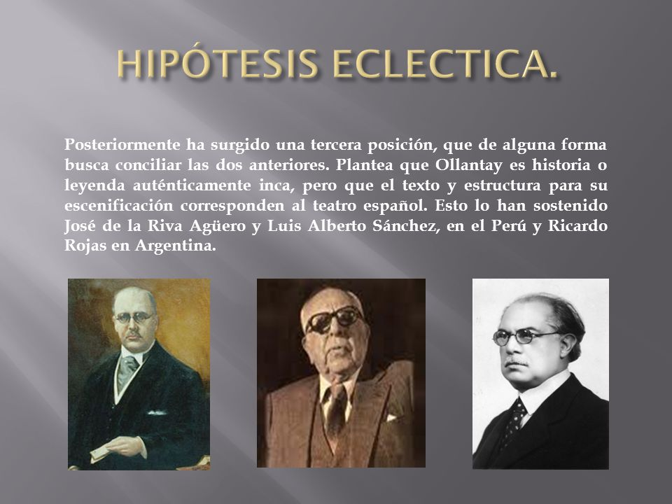 HIPÓTESIS ECLECTICA.