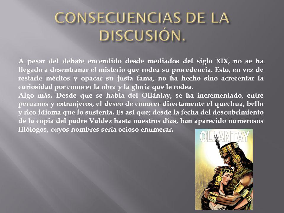 CONSECUENCIAS DE LA DISCUSIÓN.