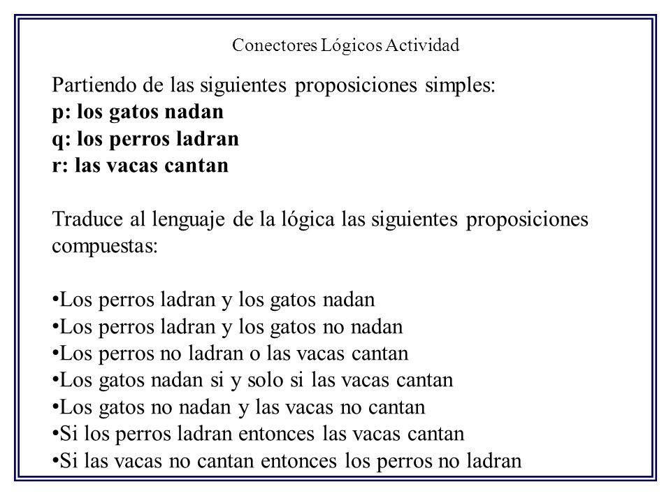 Conectores Lógicos Actividad