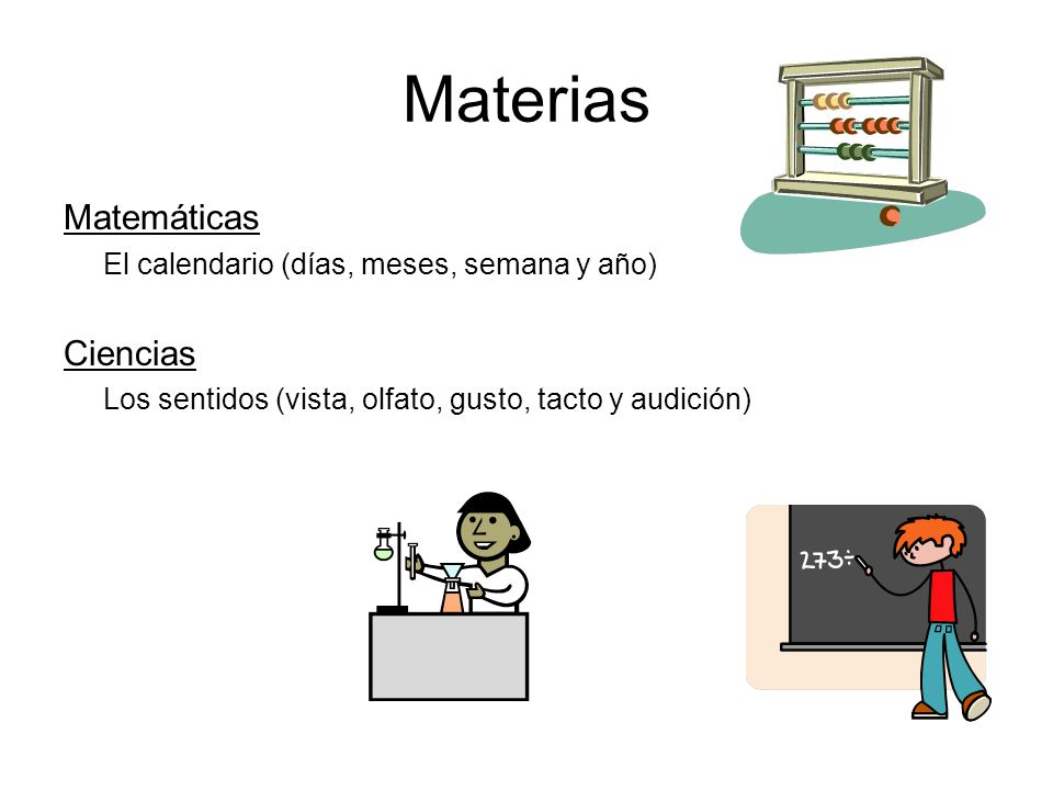 Materias Matemáticas Ciencias
