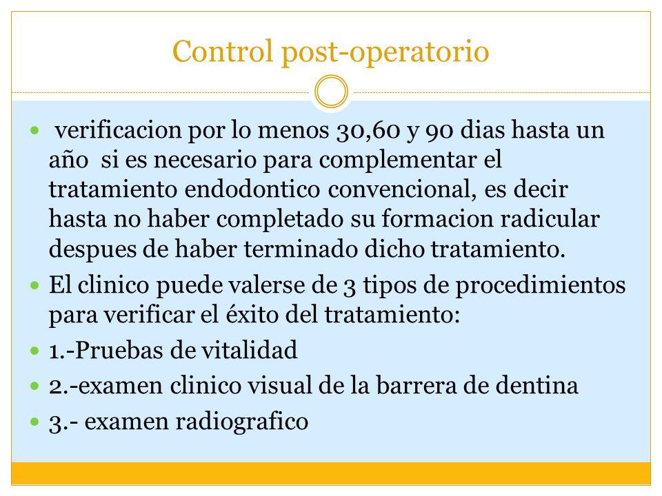 Control post-operatorio