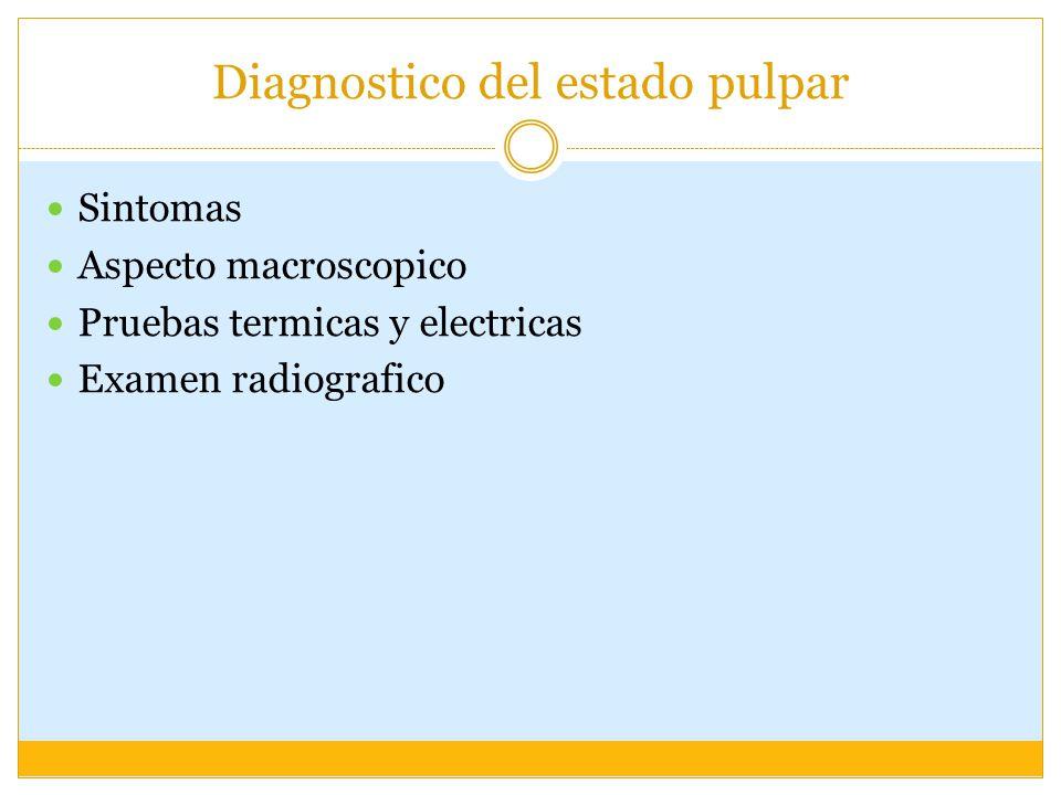 Diagnostico del estado pulpar