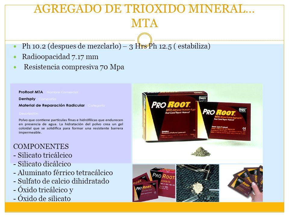 AGREGADO DE TRIOXIDO MINERAL… MTA