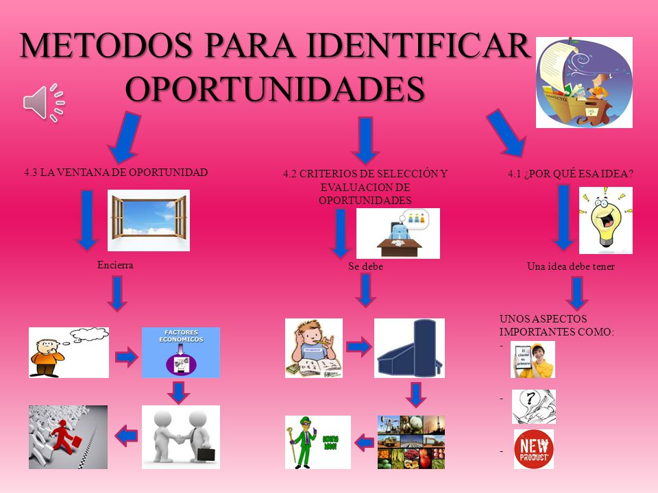 METODOS PARA IDENTIFICAR OPORTUNIDADES