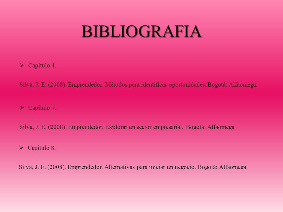 BIBLIOGRAFIA Capitulo 4.