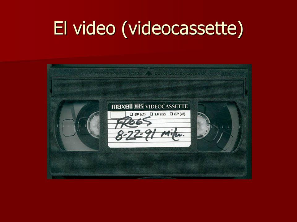 El video (videocassette)