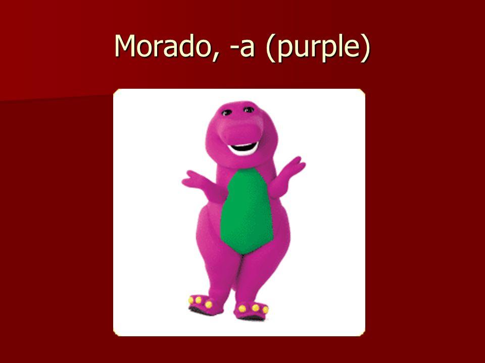 Morado, -a (purple)
