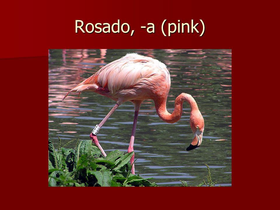 Rosado, -a (pink)