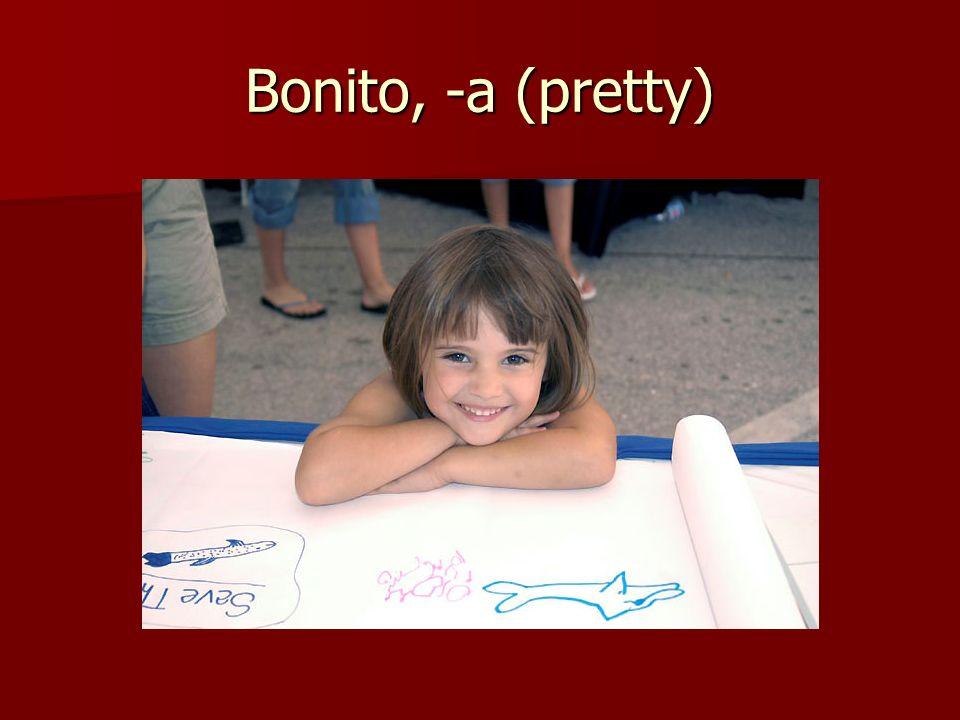 Bonito, -a (pretty)