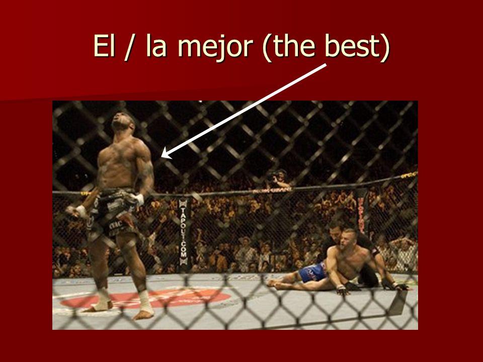 El / la mejor (the best)