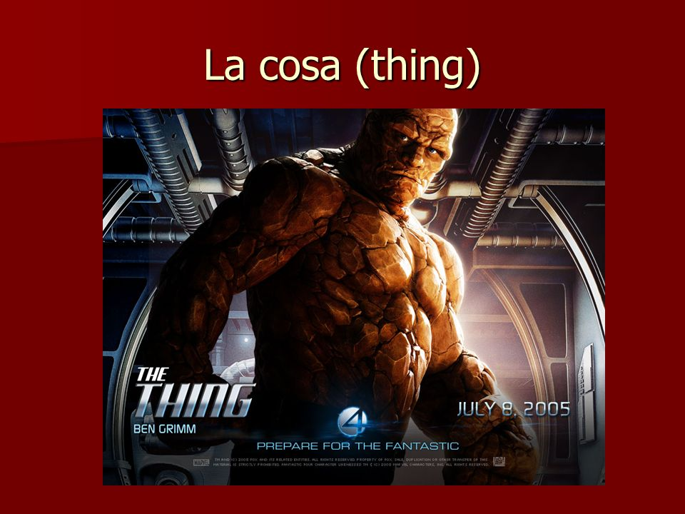 La cosa (thing)