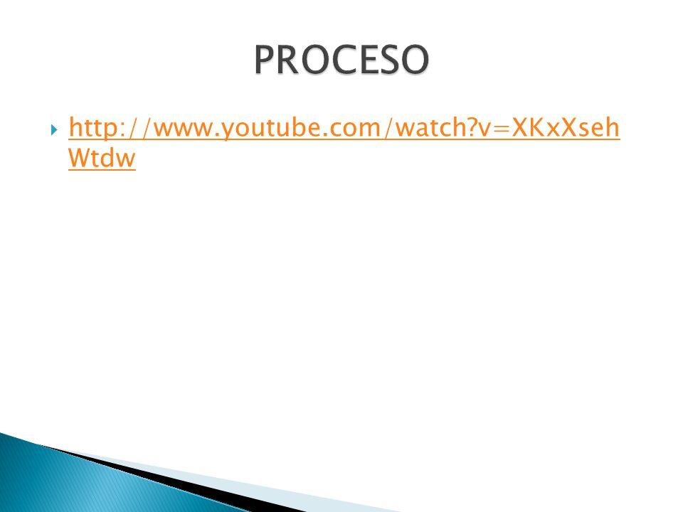 PROCESO http://www.youtube.com/watch v=XKxXseh Wtdw