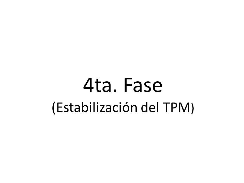4ta. Fase (Estabilización del TPM)