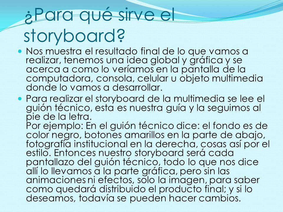 ¿Para qué sirve el storyboard