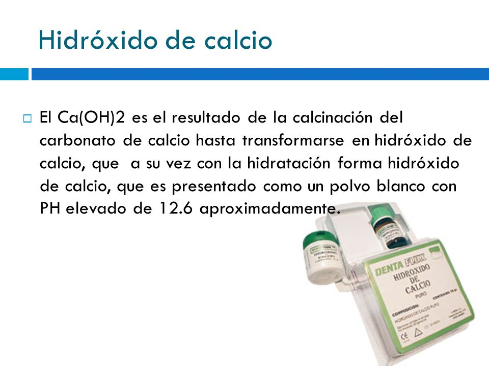 Hidróxido de calcio