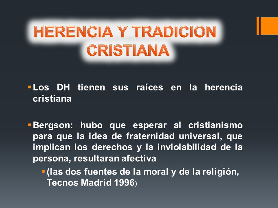 HERENCIA Y TRADICION CRISTIANA