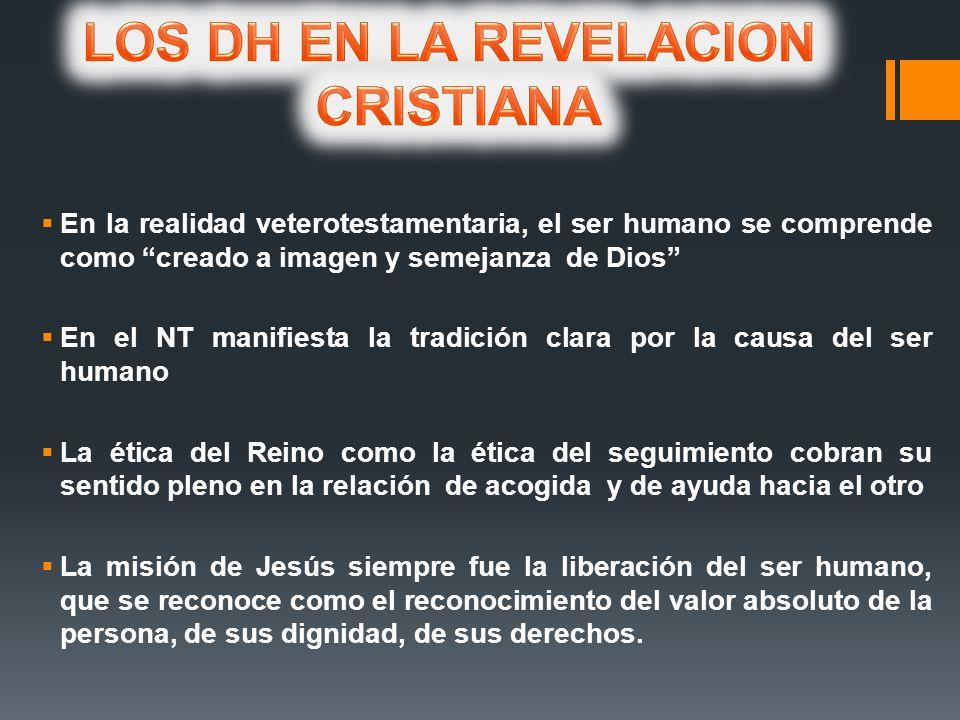 LOS DH EN LA REVELACION CRISTIANA