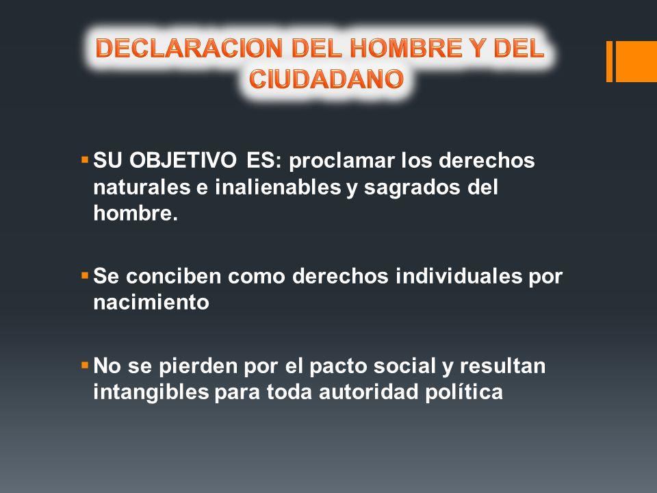 DECLARACION DEL HOMBRE Y DEL CIUDADANO